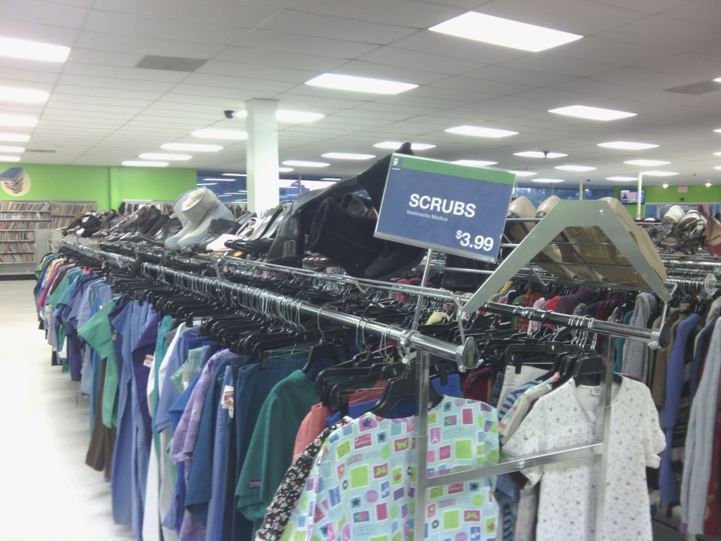 scrubs rack