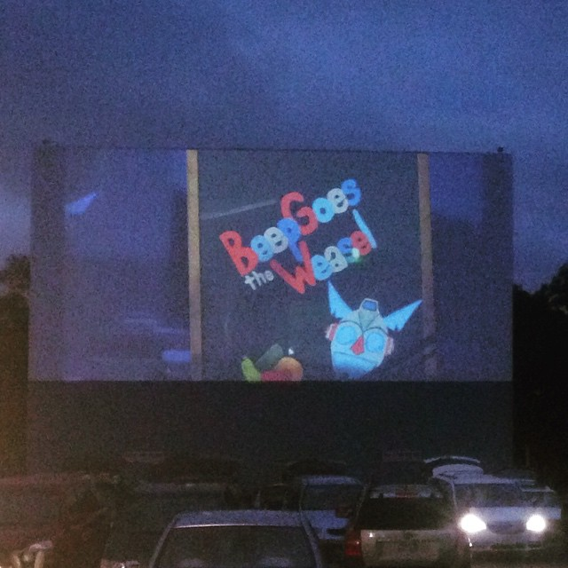 beep on drive in screen